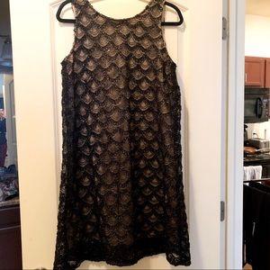 Sequin Sleeveless Shift Dress